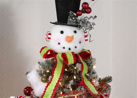 snowman christmas tree toppers