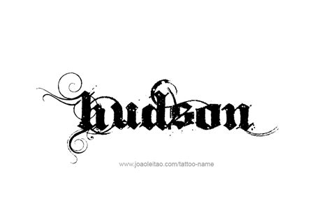 hudson tattoo hudson name designs