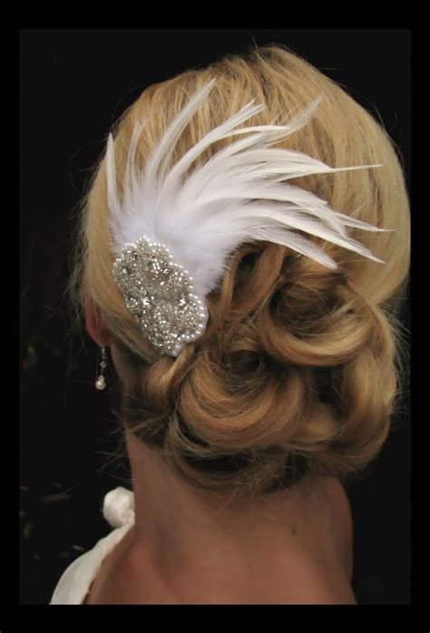 Wedding Hair Accessories Chagne by Feather Wedding Hair Pieces Stunning Feather