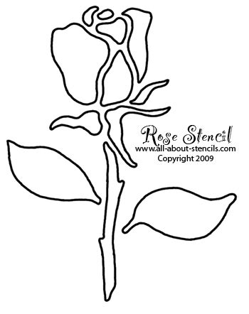 printable window stencils rose stencil designs free for you to print and use
