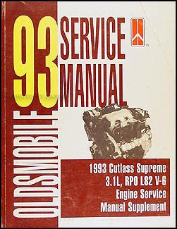 small engine service manuals 1993 oldsmobile cutlass supreme parking system 1993 olds cutlass supreme 3 1l v 6 engine repair shop manual original