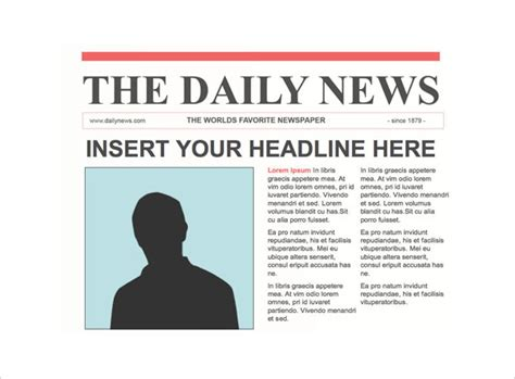 newspaper header template newspaper front page ppt template free newspaper