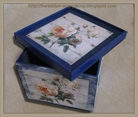 Wooden Box Decoupage - decoupage wooden box