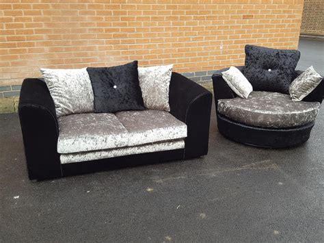 velvet swivel chair uk brand new velvet swivel chair and 2 seater sofa delivery