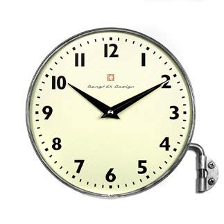 swiss wall clock green bicycle