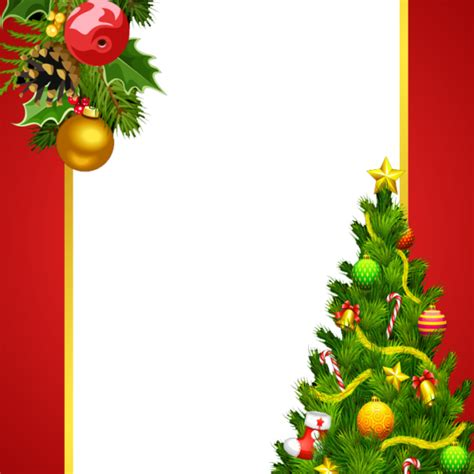 red christmas frame with christmas tree freeproducts