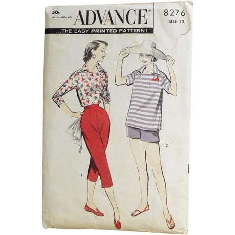 sewing patterns italian vintage 1950s advance sewing pattern for capri pants