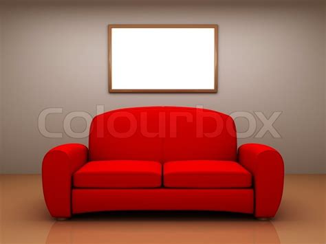 klassisches sofa sofa in a room with a blank picture stock photo