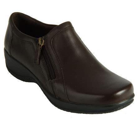 qvc clarks shoes clarks bendables leather side zip shoes qvc