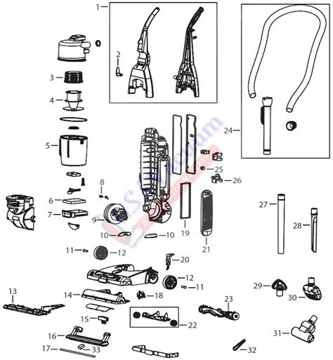 Bissell Vaccum Parts bissell 4104 powergroom pet upright vacuum parts usa vacuum