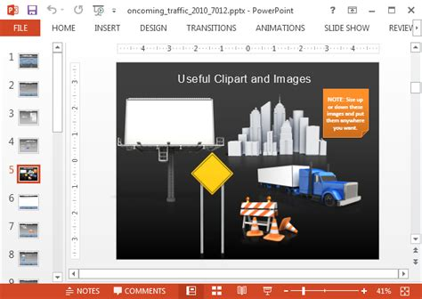 animated traffic powerpoint template
