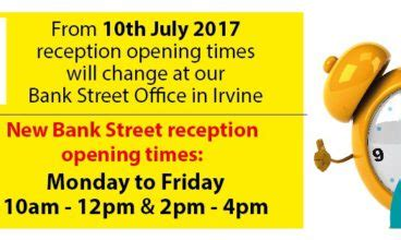 maplin bank opening times dumfries and galloway irvine ha
