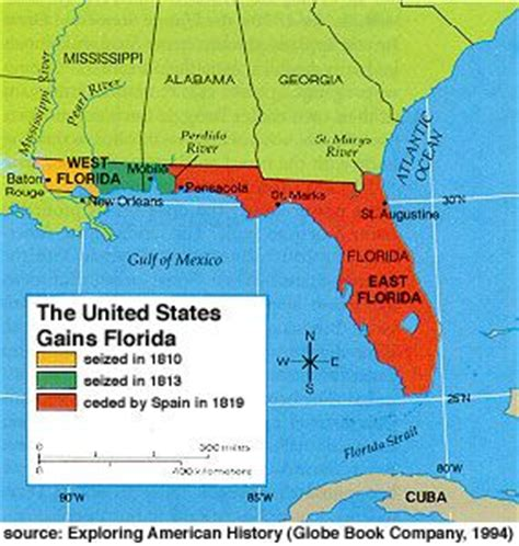 map louisiana and florida map of florida 1818 and west of the louisiana