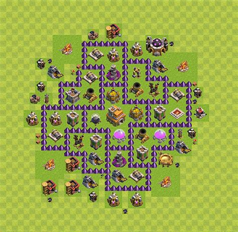 layout cv 7 defesa layout de defesa clash of clans n 237 vel da centro de vila