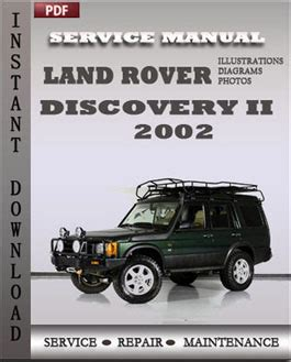 free download parts manuals 2002 land rover discovery electronic throttle control land rover discovery 2 2002 service repair manual instant download