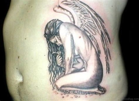 sad angel tattoo designs 58 fancy tattoos for rib