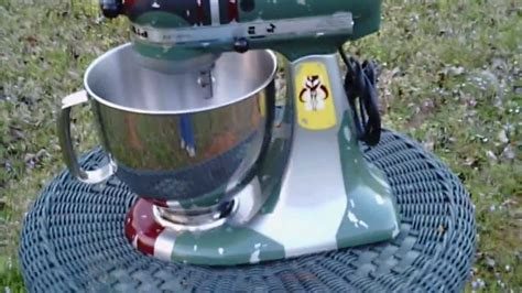 "Custom Painted ""Boba Fett"" KitchenAid   YouTube"