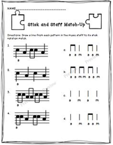 pattern matching notation students are given two melodic patterns consisting of do