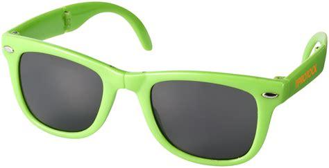 glazen len retro sun ray opvouwbare zonnebril 100342 promotiemiddelen