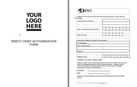 credit card direct debit form template direct debit authorisation form template redtapedoc