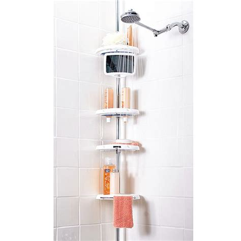 zenith bathtub and shower caddy zenith products deluxe tension mount white bathtub and