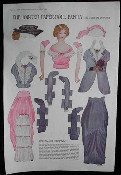 history of jointed dolls the jointed paper doll family