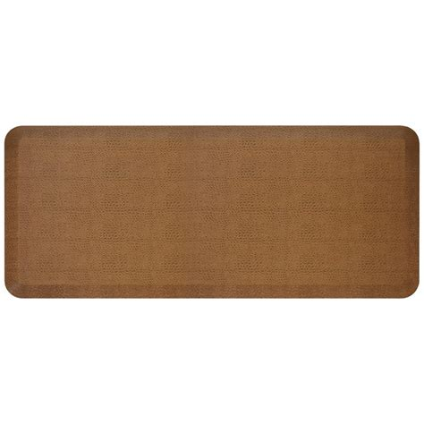 Designer Kitchen Mats Newlife Designer Pebble Caramel 20 In X 48 In Anti Fatigue Comfort Kitchen Mat 106 11 2048 3