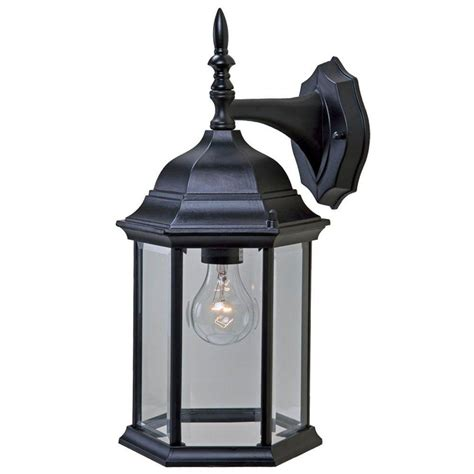 Craftsman Outdoor Light Acclaim Lighting Craftsman 2 Collection 1 Light Matte Black Outdoor Wall Mount Fixture 5181bk