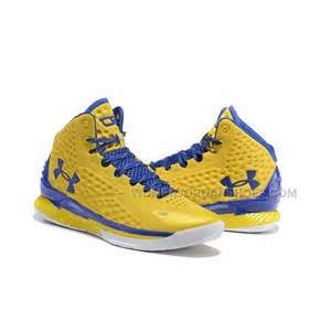 blue and yellow basketball shoes armour ua curry one 2015 yellow blue basketball