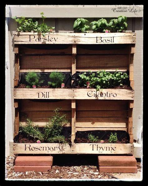 25 best ideas about herb garden pallet on