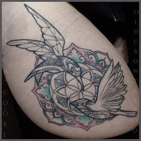 old crow tattoo bird mandala by cooke of in