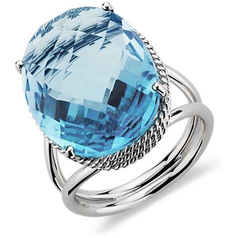 1pcs Swiss Blue Topaz oval swiss blue topaz ring in 14k white gold blue nile