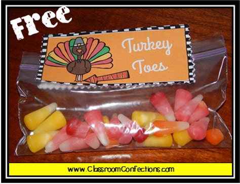 printable turkey toes turkey toes baggie toppers classroom activities social