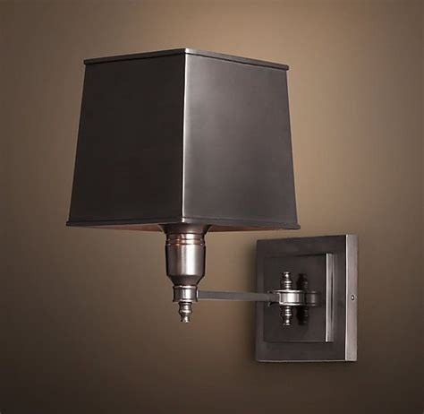 Restoration Hardware Wall Sconces Restoration Hardware Claridge Single Sconce With Metal Shade Bronze 209 Master Bedroom