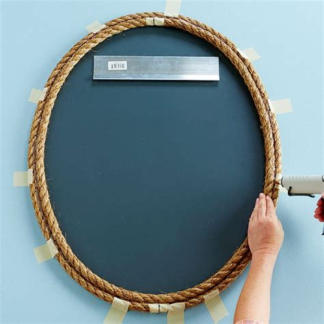 cornice specchio fai da te decorare uno specchio con una cornice fai da te in corda