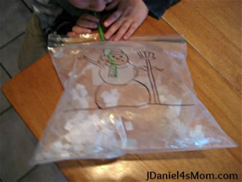 preschool activity snowstorm in a bag jdaniel4s mom