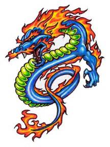 free dragon tattoo flash tribal tattoos design