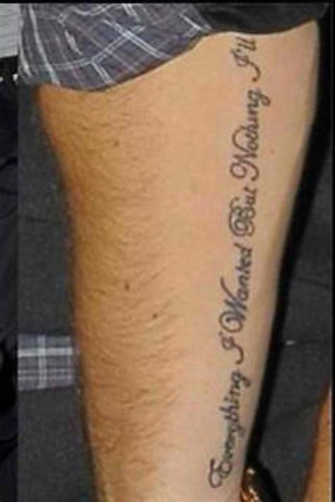liam tattoo liam payne s everything i wanted arm
