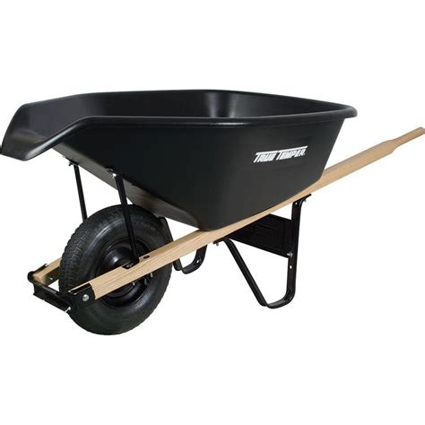 true temper 6 cu ft ez pour poly wheelbarrow cp6ps the