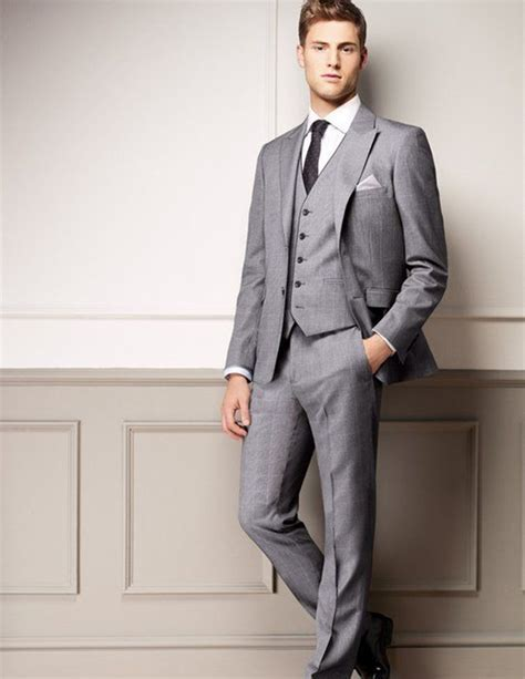 Aliexpress.com : Buy groom suits light grey for wedding
