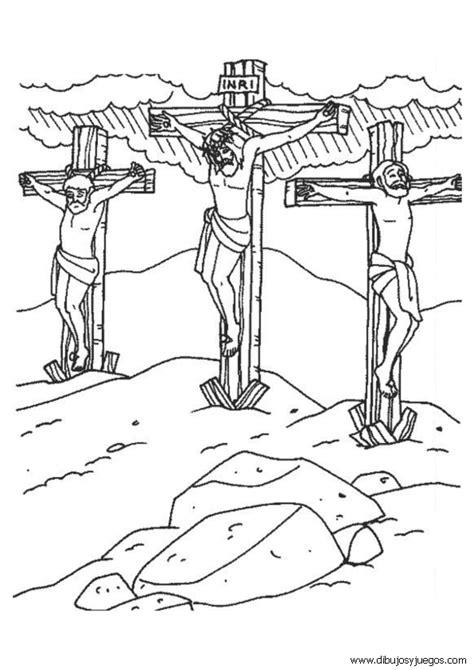 imagenes de jesus bebe para colorear dibujo de jesus en la cruz crucifixion 005 dibujos y
