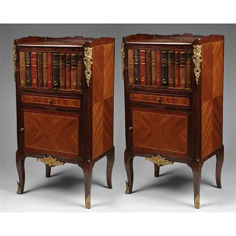 zero faux given books pair of regence commodes or nightstands with faux