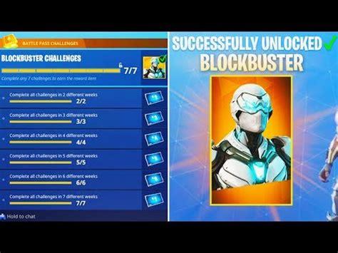 completed  blockbuster challenge  fortnite