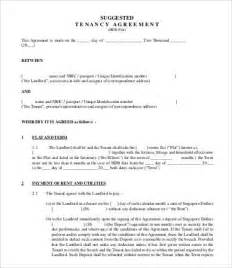 tenancy contract template tenancy agreement template 8 free word pdf documents