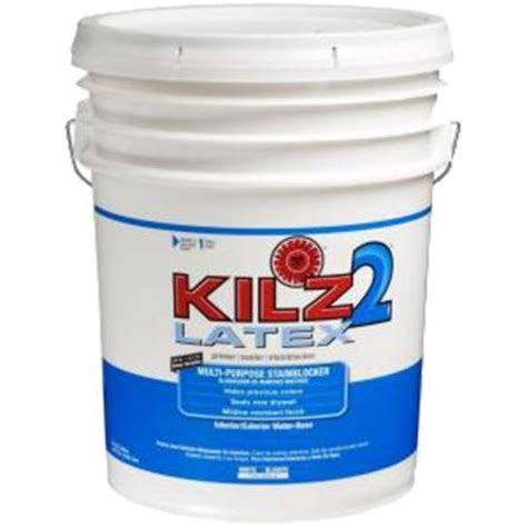 kilz 2 5 gal white primer and sealer 182405 the home depot