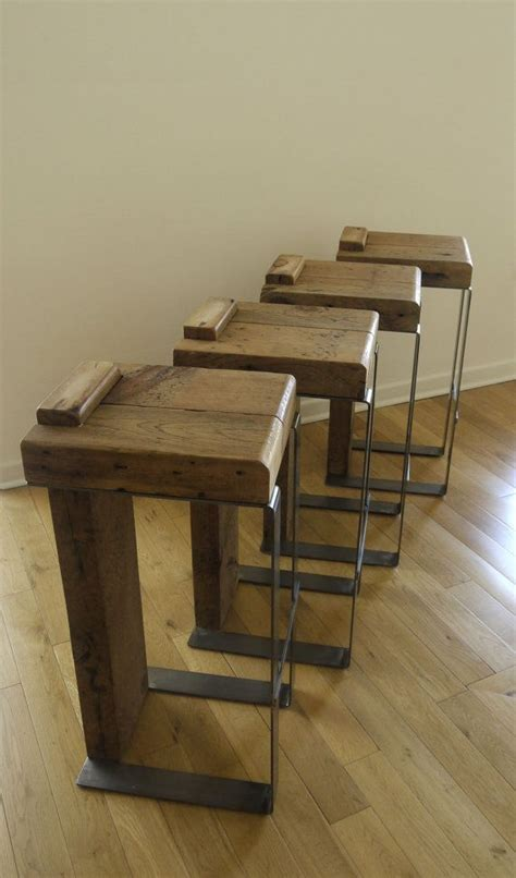 Handmade Wooden Bar Stools - reclaimed wood bar stool for the home