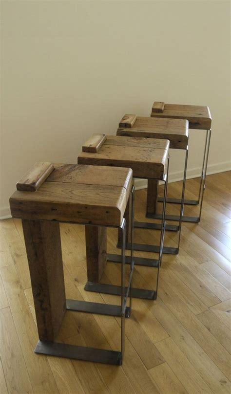 Handmade Bar - reclaimed wood bar stool for the home
