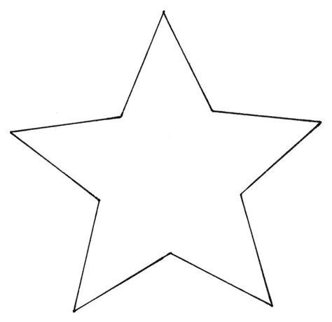 Sterne Basteln Vorlagen by Vorlage 5 Zacken Vorlage