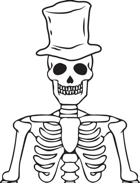 skeleton half human head coloring pages
