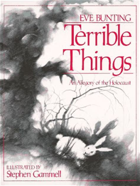 libro terrible things an allegory never forget holocaust resources terrible things an allegory of the holocaust